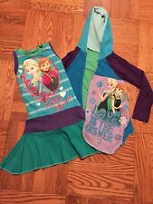 Disney Frozen Upcycle Resell Boutique Etsy Dress With Matching Cardigan 4/5, EUC