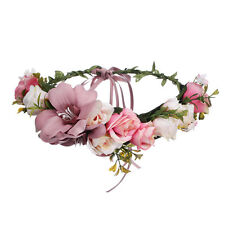 Bridal Boho Large Flower Headband Garland Festival Wedding Crown Vine Hair Band