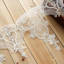 "Bridal Lace Edging Embroidery  Lace Trimming 11.7"" Wedding Veils Trimming 1 Yard"