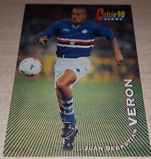CARD CALCIATORI PANINI 98 SAMPDORIA VERON CALCIO FOOTBALL SOCCER ALBUM