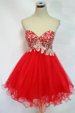 NWT WINDSOR $200 Red Strapless Prom Party Dance Gown 12