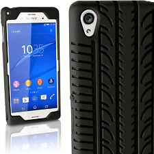 Nero Silicone Custodia Pneumatico per Sony Xperia Z3 D6603 Gel Case Cover
