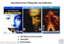 HANNIBAL LECTER TRILOGY BLU RAY COLLECTION ALL 3 MOVIE FILMS Brand New Sealed UK