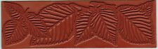 LEAF BORDERS Designs 6.75 x 2 inch RUBBER STAMPING MAT Art Clay PMC Texture