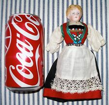 1890's Little Factory-Original PARIAN Child, Ethnic Clothing, Cabinet Size, OLD!