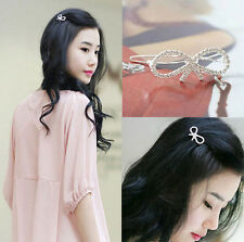 New Fashion Girls Women Crystal Rhinestone Butterfly Barrette Hair Clip Hairpin