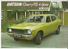 DATSUN CHERRY FII 4 DOOR SALOON SALES 'BROCHURE'/SHEET 1976 1977