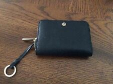 Tory Burch Robinson Zip coin case Metro Wallet black Saffiano leather