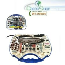 Miniutensile rotativo/Minitrapano/Smerigliatrice 135W tipo Mini Drill + 210 acc.
