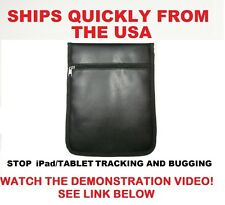 iPad/Tablet Pouch Black RF Signal Blocker. Stop Tracking/Eavesdropping