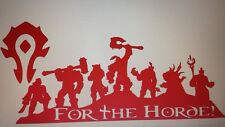 "World Of Warcraft ""For The Horde"" Decal Sticker 8.5"" X 4.2"" ( Lok'Tar Ogar )"