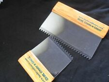 2 x Artex Pattern Style Comb Tools. STANDARD SET. Texturing Ceilings Walls
