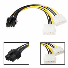 4 pin Molex*2 to 8 pin PCI Express Video Card Graphic Card Power Adapter Cable