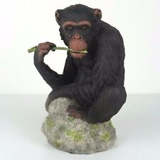"""Chimpanzee Chewing Branch - Detailed Figurine Miniature 7.25""""H New in Box"""