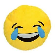 """USA SELLER Emoji Pillow 12"""" Inch Large Yellow Smiley 30cm Emoticon Laugh to tear"""