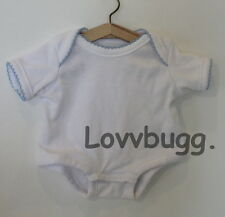 "Lovvbugg White Onesie for 15 - 18"" Bitty Doll Clothes or Preemie Baby Deal Alert"