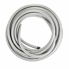 Stainless Steel Braided 1500 PSI -6AN AN6 6-AN Oil Fuel Gas Hose Line per foot