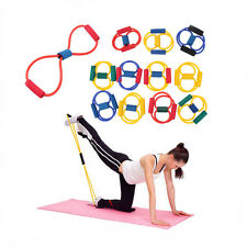 FITNESS EQUIPMENT ELASTIC RESISTANCE BANDS TUBE WORKOUT EXERCISE BAND FOR YOGA W