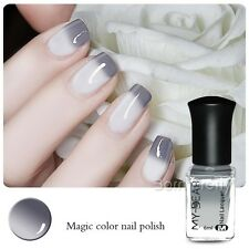 6ml Thermal Nail Art Polish Varnish Color Changing Peel Off Gray to White C009