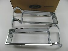 Grand Marquis LH & RH Chrome Headlight Trim Surround Bezel Panels D9MY-13064-A-B