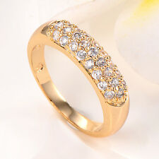 Womens Jewelry Charm 14K Yellow Gold Filled Lots Fashion Ring Size 7
