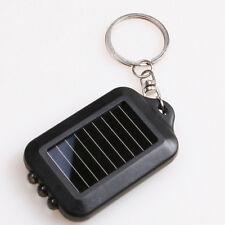 Portable Solar Power 3 LED Lamp Flashlight Torch Key Chain NEW
