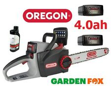 (2 Batteries &Oil) OREGON CS300 4.0ah 36V Cordless Chainsaw 573019 5400182213956