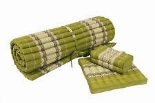 set: kapok rollmatte + kissen yoga massage matte futon fest grün shiatsu