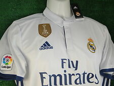 REAL MADRID RONALDO HOME SHIRT * FIFA WC 2016 GOLD BADGE * 2016-17 SIZE LARGE BN