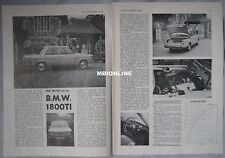 1964 BMW 1800TI Original Autosport magazine Road test