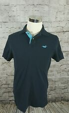 Hollister young men's size large navy blue polo shirt