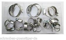 Schlauchschellen Sortiment Edelstahl W4 9 mm breit DIN 3017   * Profi-Qualität *