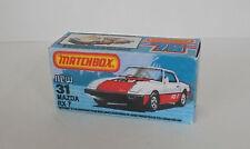 Repro Box Matchbox Superfast Nr. 31 Mazda RX 7
