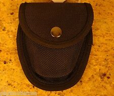 Handcuff Pouch Police Gear Belt Loop Black Molded Nylon Case Holder w Snap New