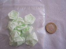 EXTRA LARGE Satin Ribbon Rose - MINT, 30mm & !0 per pkt. FREE P&P **NEW**