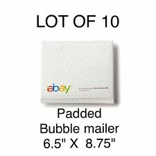 "LOT 10 eBay Branded Airjacket Padded Envelopes 6.5"" x 8.75"" POLY BUBBLE MAILER"
