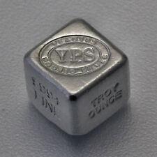 999 YPS Silberbarren Silberwürfel Würfel 1 oz Unze Unikat gestempelt Selten