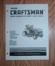 CRAFTSMAN 917.254850 LAWN TRACTOR OWNERS MANUAL WITH ILLUSTRATED PART LIST
