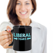 Liberal Tears - Conservative Republican Alt Right Political Coffee Mug (Black)