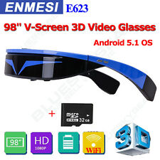 "3D Viewer Movie Game Video Glasses 98"" Head Mount Display Virtual Screen+32GB TF"