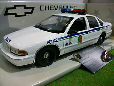 CHEVROLET CAPRICE CANADA POLICE CAR 1/18 UT Models 21023 voiture miniature coll.