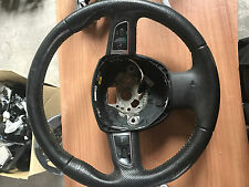 AUDI A4 B7 S LINE 3 SPOKE BLACK LEATHER STEERING WHEEL MULTIFUNCTION