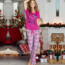 AVON Hello Kitty Fair Isle Long Leg Pyjamas size 4-6 New in Pack Ideal Gift (M)