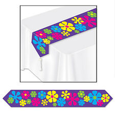 Groovy 60's Retro FLOWER POWER  TABLE RUNNER Birthday Party Decoration
