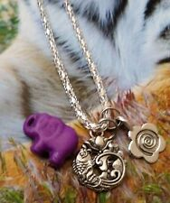 Celtic Spiral Lotus Fish Purple  Turquoise Elephant Necklace Gift Sale