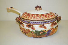 FITZ & FLOYD 1995 HARVEST FALL TUREEN WITH LID AND LADEL ACORNS LARGE