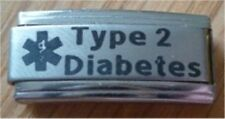 9mm Classic Size Italian Charms Diabetic  L41 Medical Alert Type 2 Diabetes