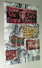 original vintage poster The Berlin Wall 1990 Western Graphics Germany Peace 80's