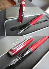 AURORA STYLE PENNA STILOGRAFICA ROSSA E ACCIAIO+SCATOLA Red & Steel Fountain Pen