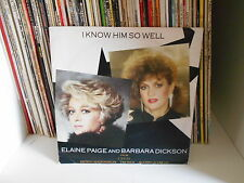 """ELAINE PAIGE/BARBARA DICKSON """" I KNOW HIM SO WELL"""" 7"""" MADE IN ENGLAND"""